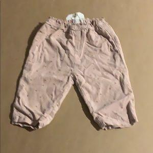 New Zara lined baby Corduroy printed pants
